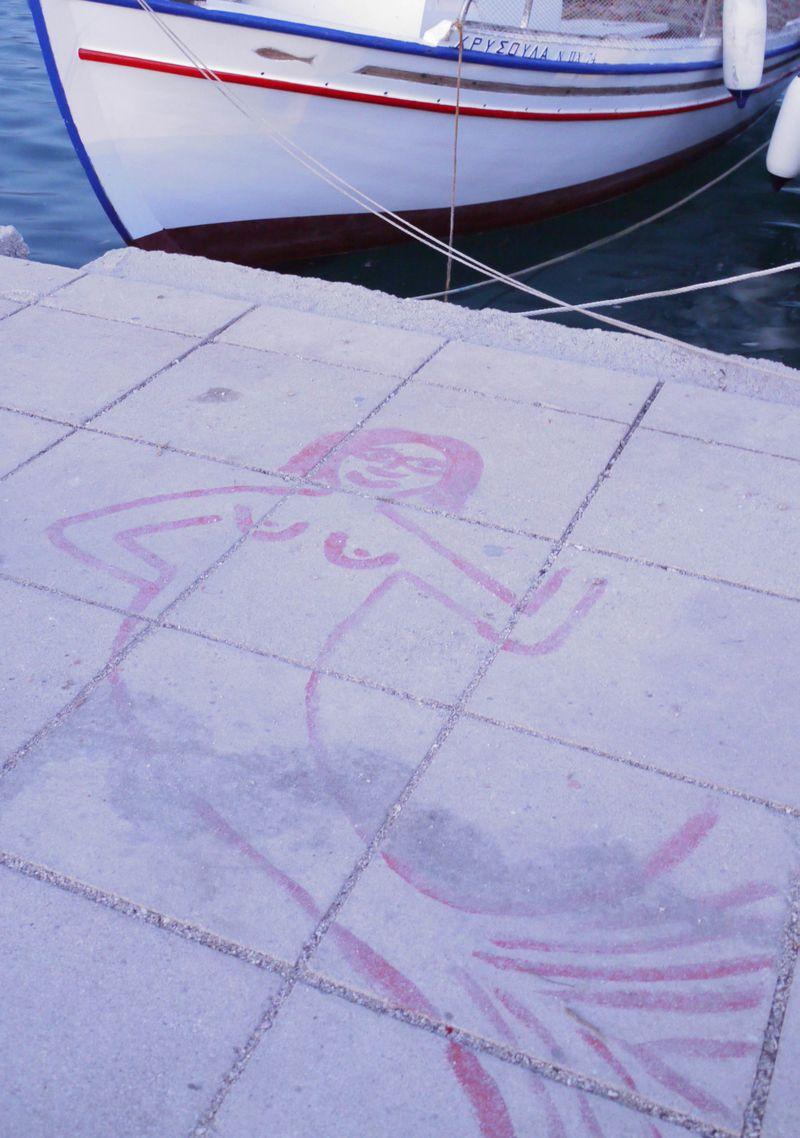 Pavement-mermaid