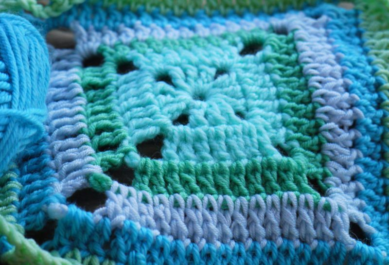 Blue-crochet,close