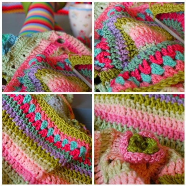 Mosaic crochet, legs