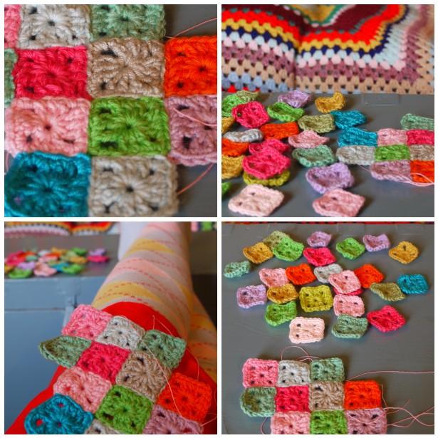 Mosaic crochet sqs 1