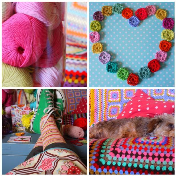 Mosaic yarn reflection 2