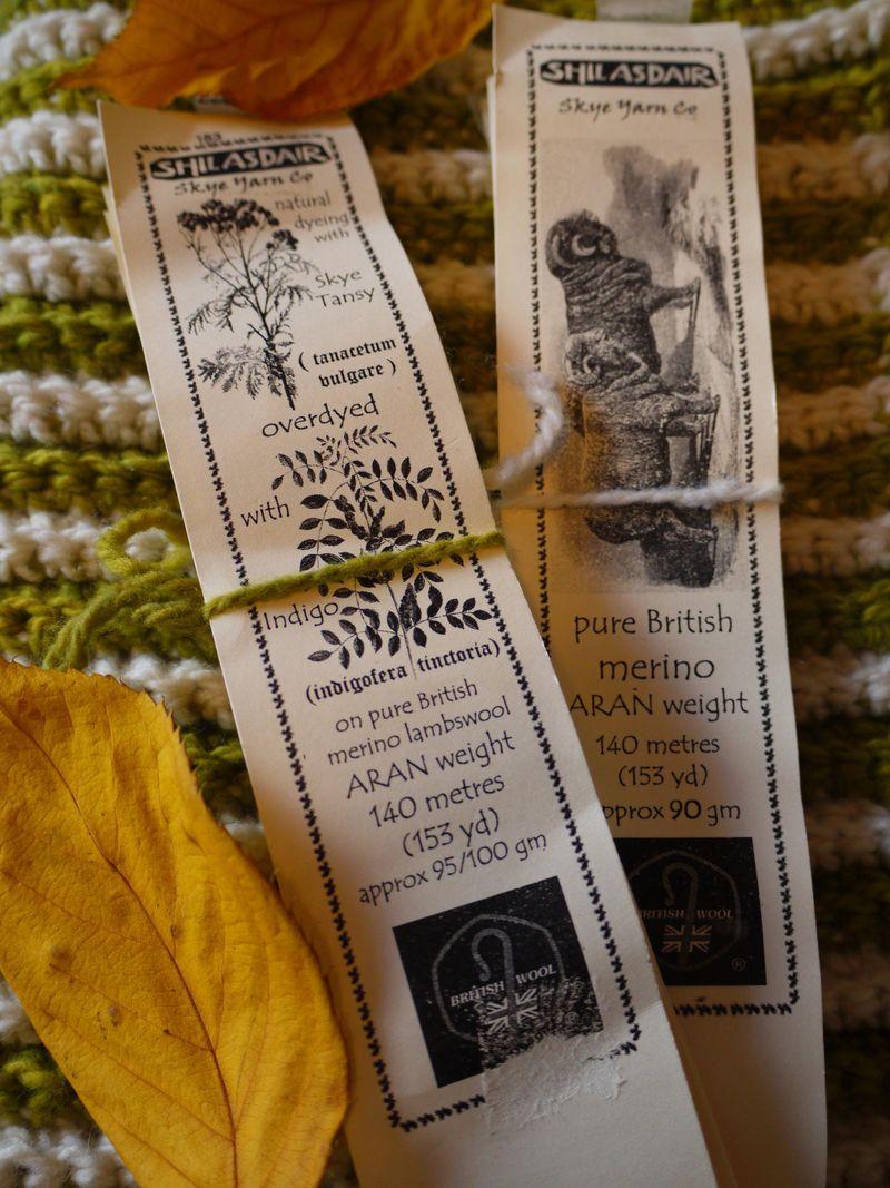 Yarn,-labels,-leaves