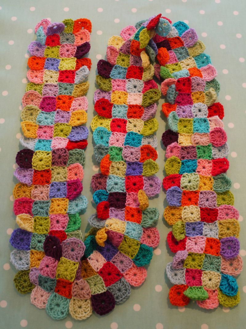 Do You Mind If I Knit Little Squares Scarf Step By Step
