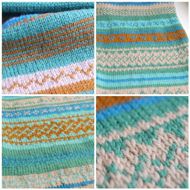 do you mind if i knit: Susan's Fair Isle knitting.