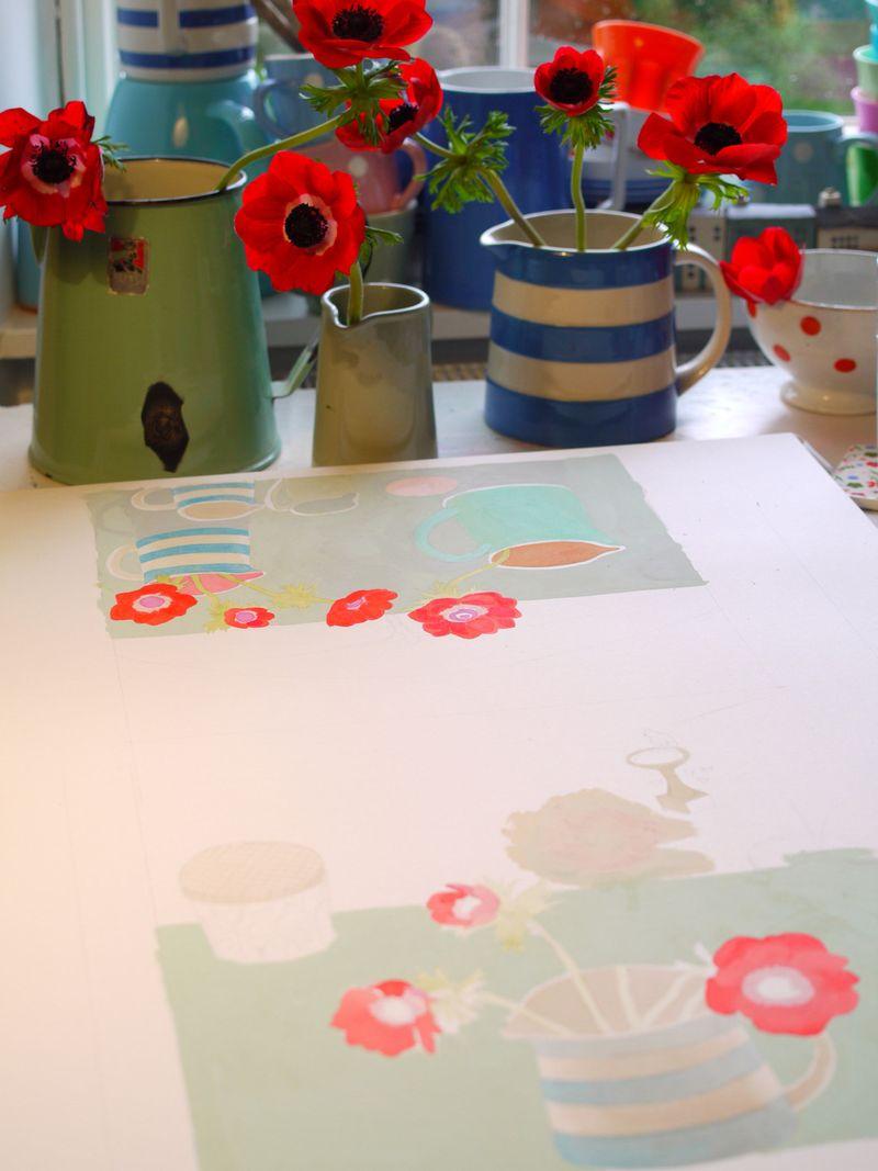 Anemones,-painting