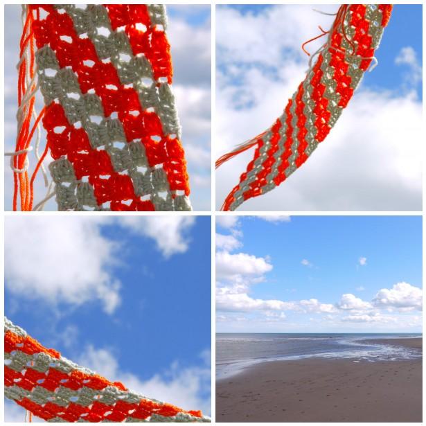 Mosaic sarah lon scarf, beach