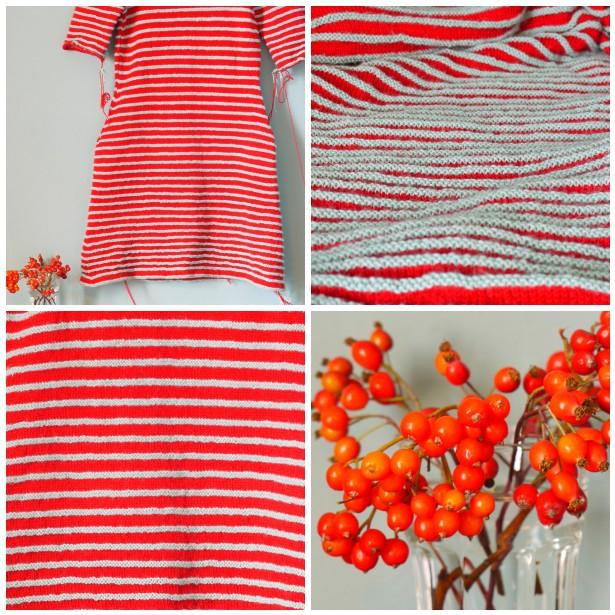 Mosaic stripe dress