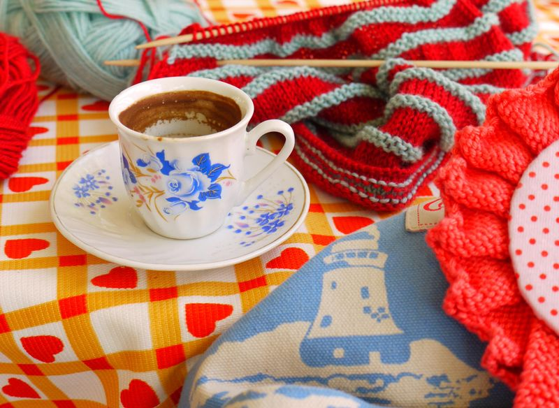 Turk-coffee,-knitting