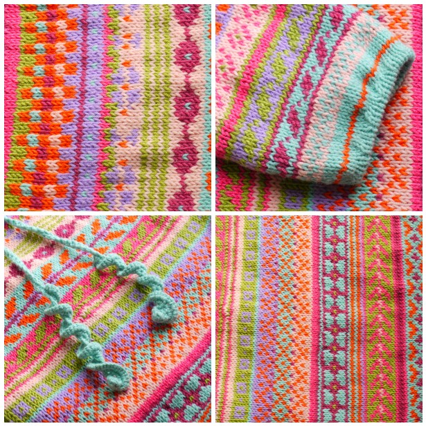 Mosaic, patt, sleeve, cord