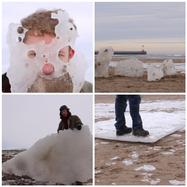 Mosaic ice, face