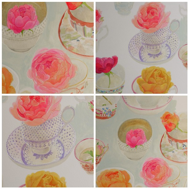 Mosaic roses in t cup, 1