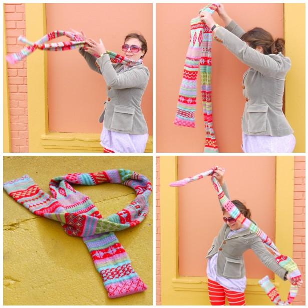 Mosaic fair isle scarf