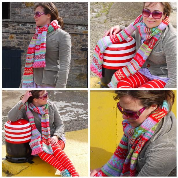 Mosaic fair isle scarf, mos 2