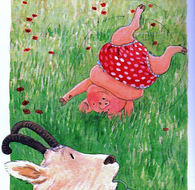 Pig,cartwheel,goat