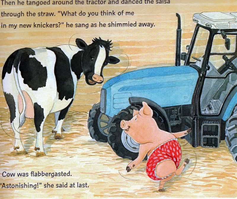 Pigs-kn-tractor,cow,pig