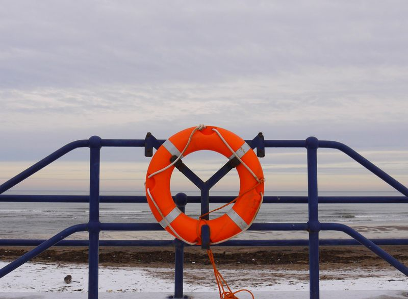 Beach,-buoy,-snow