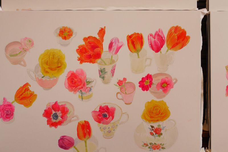 Orange-tulip-painting