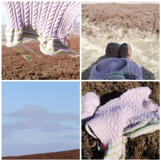 Mosaic knitting, walk