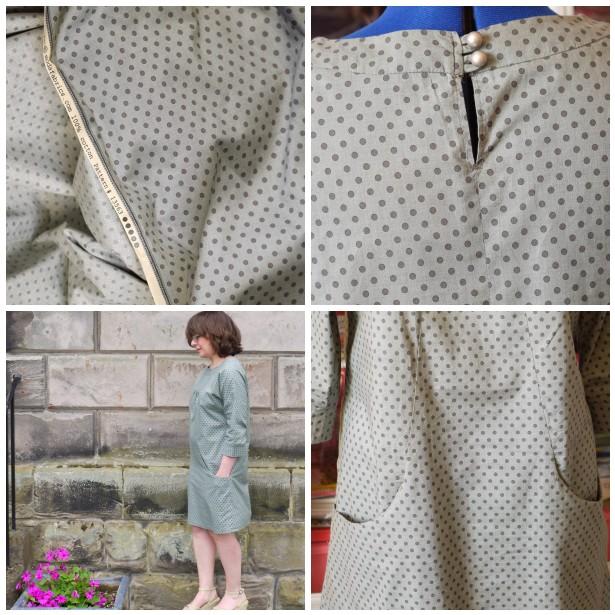 Mosaic spot dress