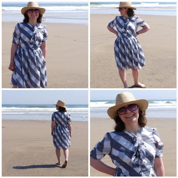 Mosaic me in check dress