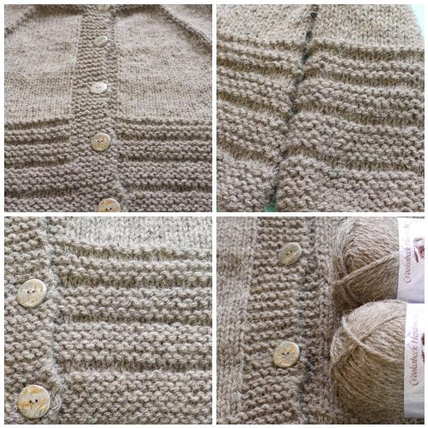 Mosaic herdwick yarn, knitted