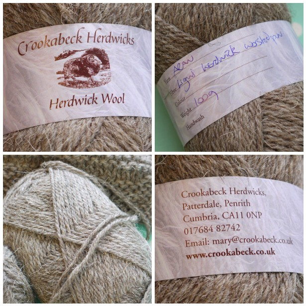 Mosaic herdwick yarn label