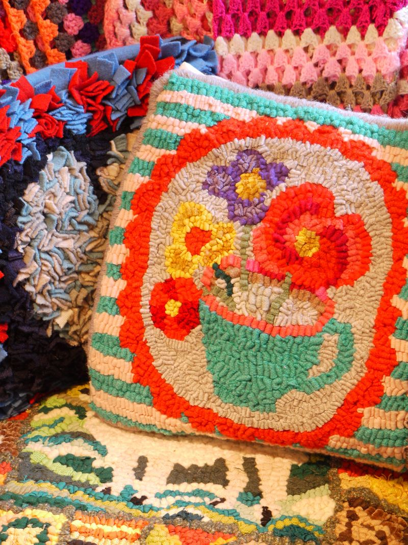 Rag-rug-cushions