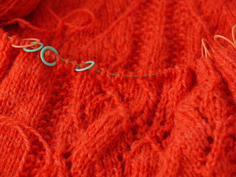 Knitting-close,-markers